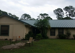 Mechanical Seam Forest Green Metal Roofing in Jupiter